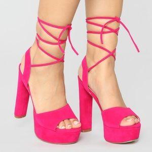 Fashion Nova Fuchsia Heels